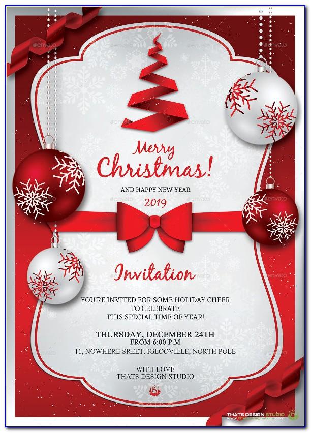 Word Templates Holiday Invitation