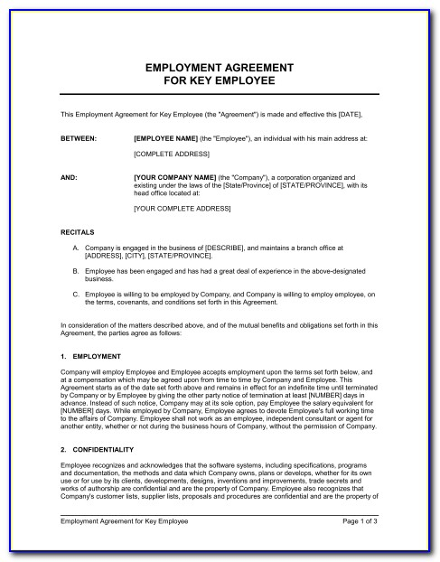 Work Contracts Templates