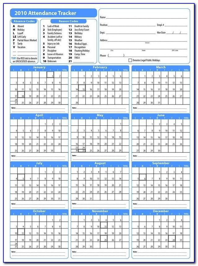 Work Plan Calendar Template 2019