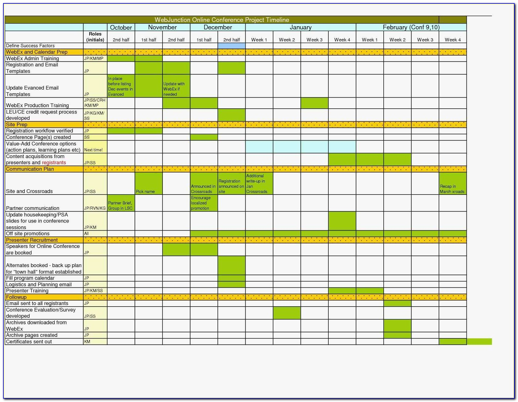 Excel Workflow Calendar Template Elegant Acquisition Timeline Template Leoncapers