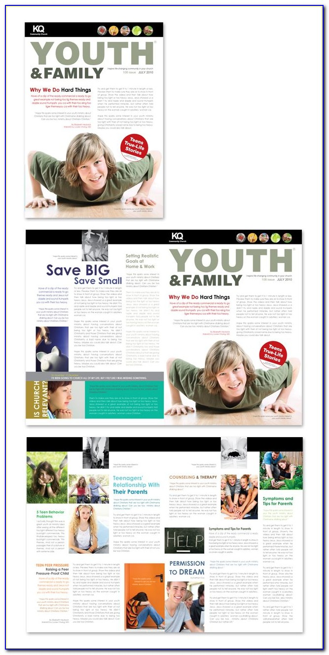 Youth Ministry Newsletter Template Free