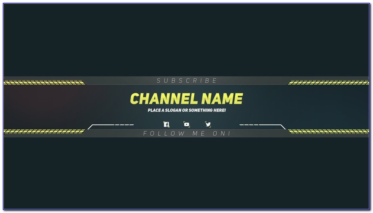 Premium Youtube Banner Template Photoshop Template Youtube Intended For Youtube Channel Banner Template
