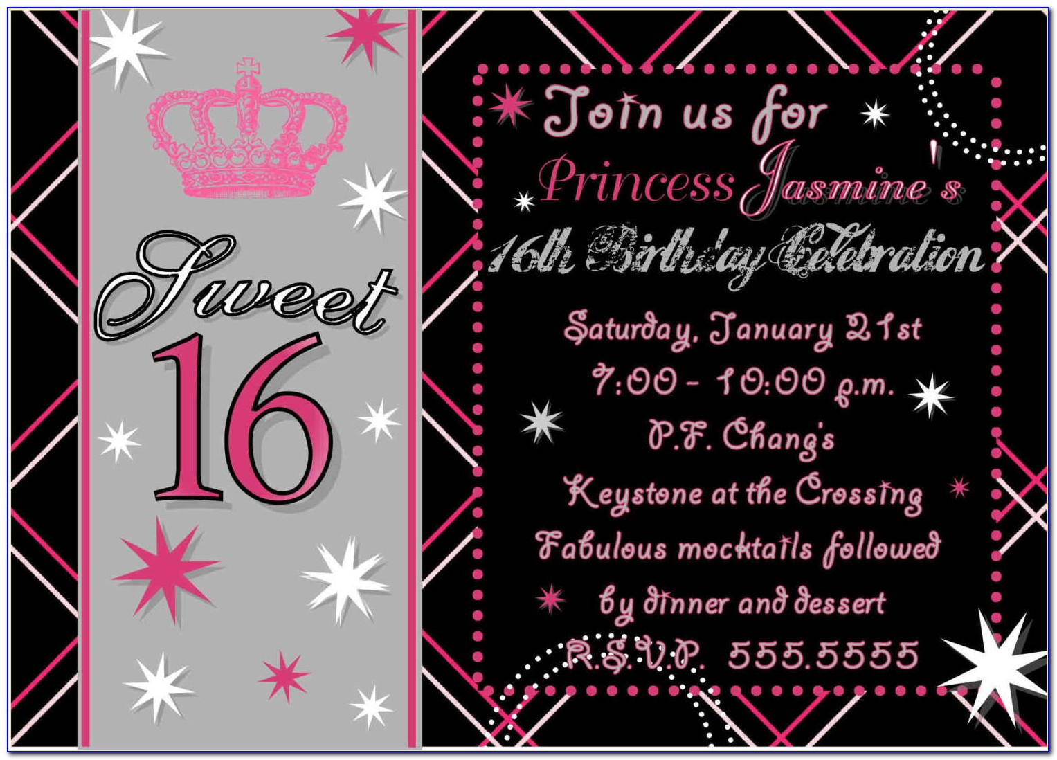 16th Birthday Invitations