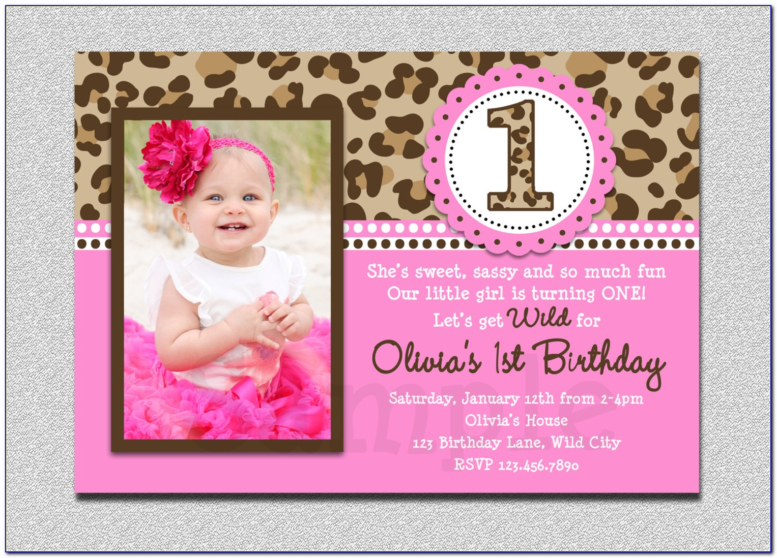 1st Birthday Invitation Templates Ppt