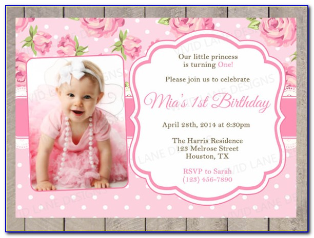 1st Birthday Invitation Templates Vector