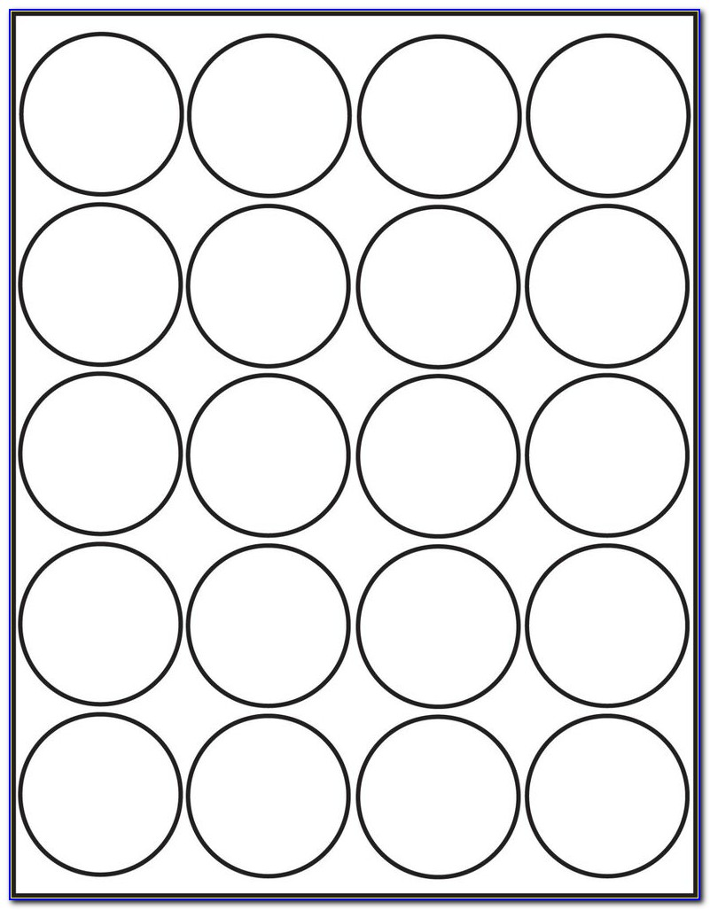 2 Inch Round Label Template 20 Per Sheet