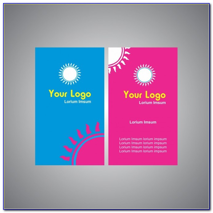 2 Sided Business Card Template Publisher