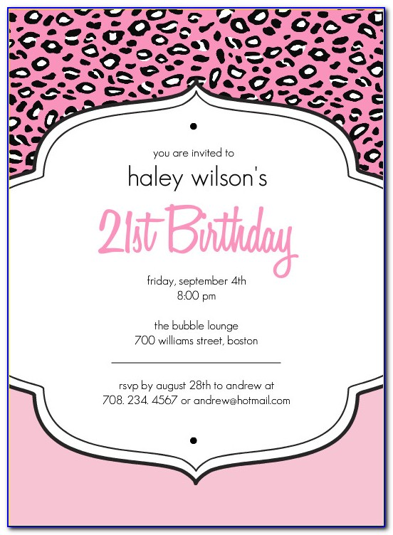 21st Birthday Invitations Templates Australia