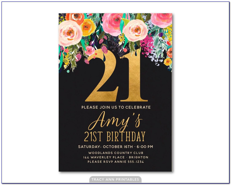 21st Photo Invitation Templates Free