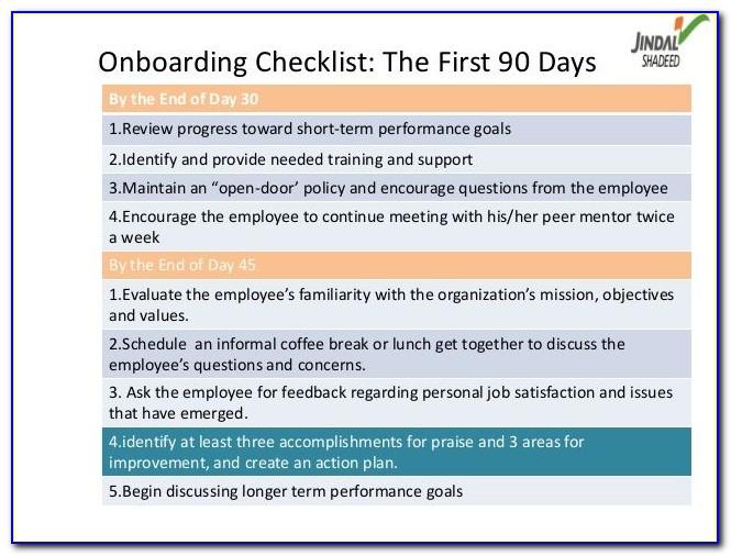 30 60 90 Day Onboarding Plan