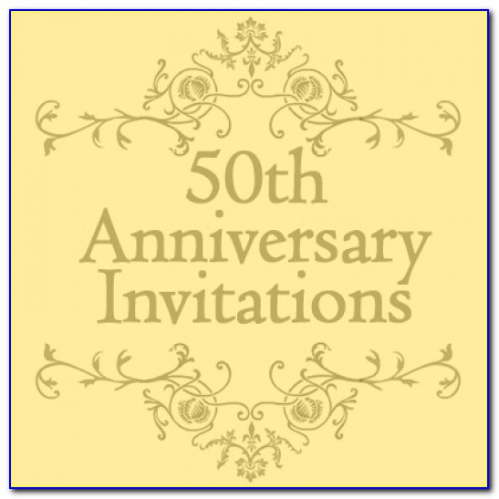 50th Anniversary Invitation Ideas