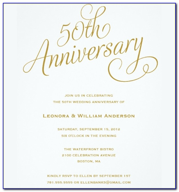 50th Anniversary Invitation Templates Free Download