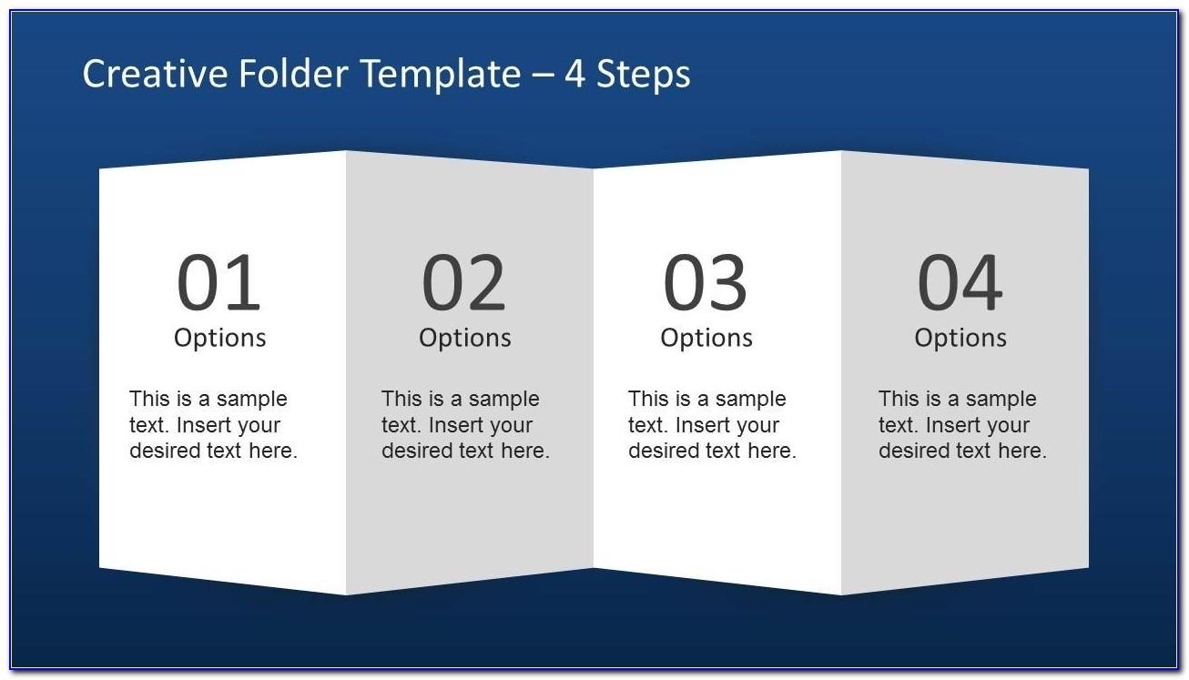 Creative Folder Paper With 4 Fold Brochure Slidemodel Within 4 Fold Brochure Template