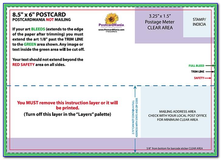 6x4 Postcard Template