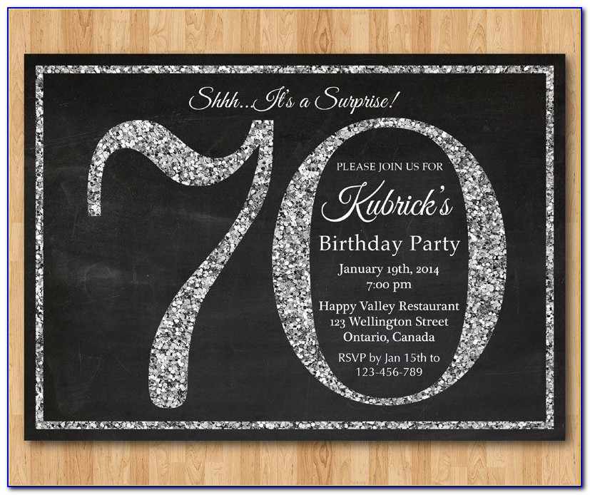 70th Birthday Invitation Card Format