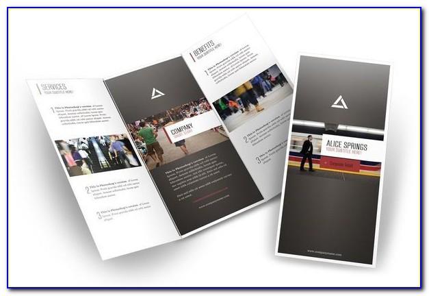 8.5 X 11 Gate Fold Brochure Template