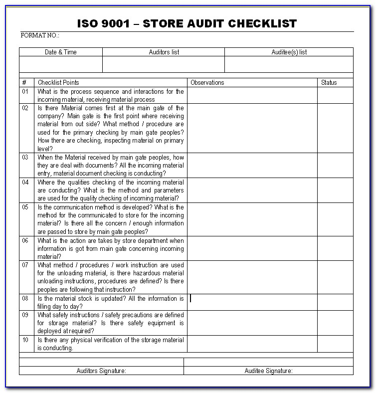 9001 Iso 2015 Management Review Agenda Template