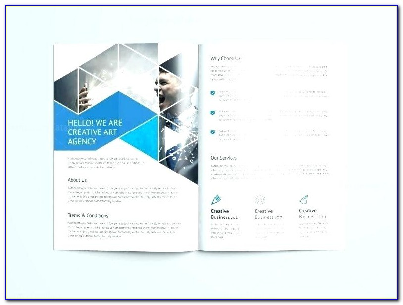 A4 Double Sided Brochure Template