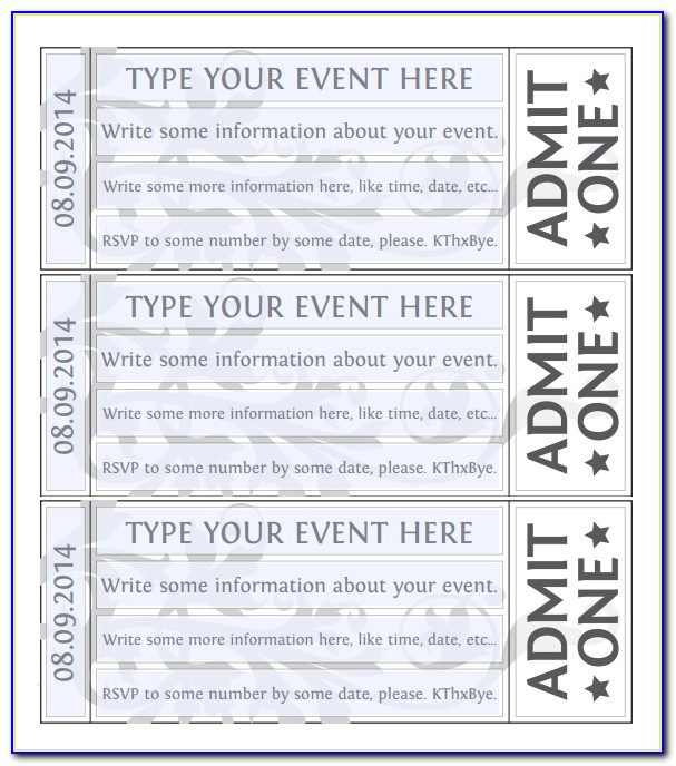 Admission Ticket Template Free Download