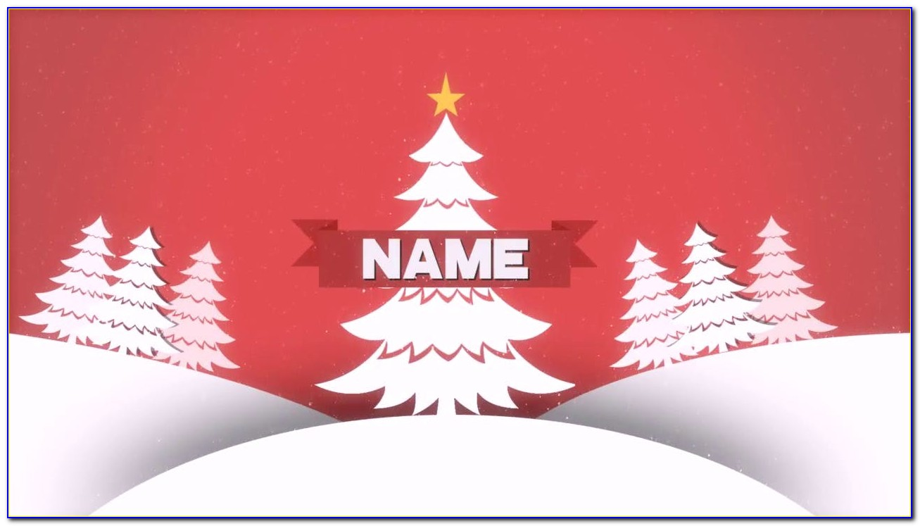 Adobe After Effects Christmas Template Free