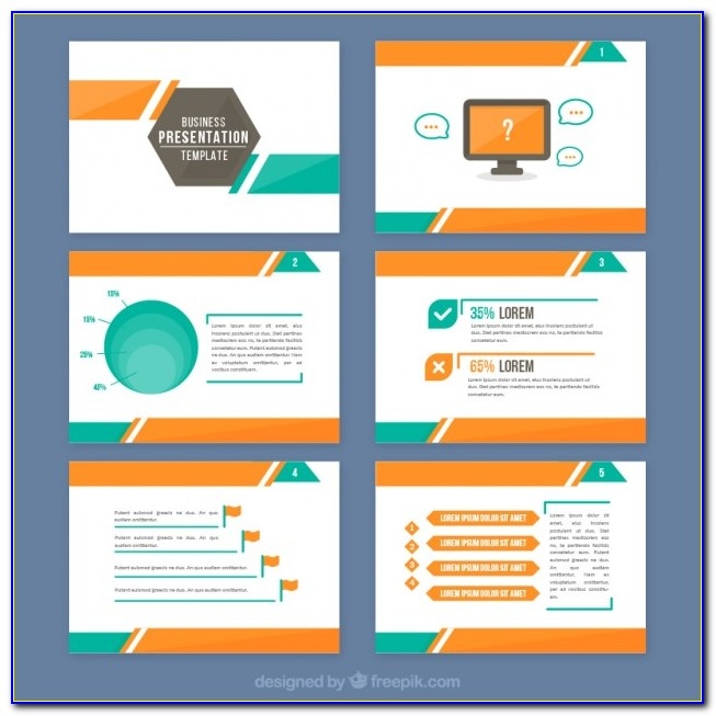Adobe Illustrator Business Presentation Templates