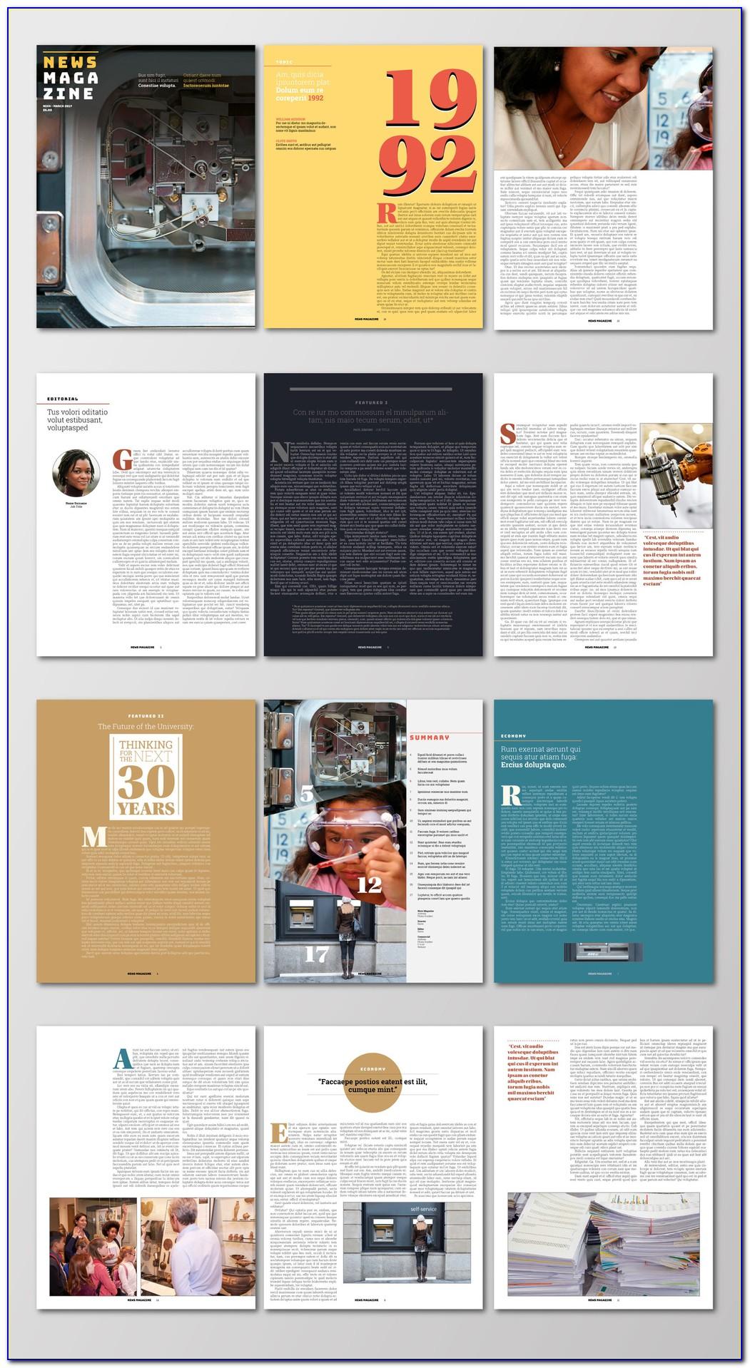 Adobe Indesign Magazine Templates Free