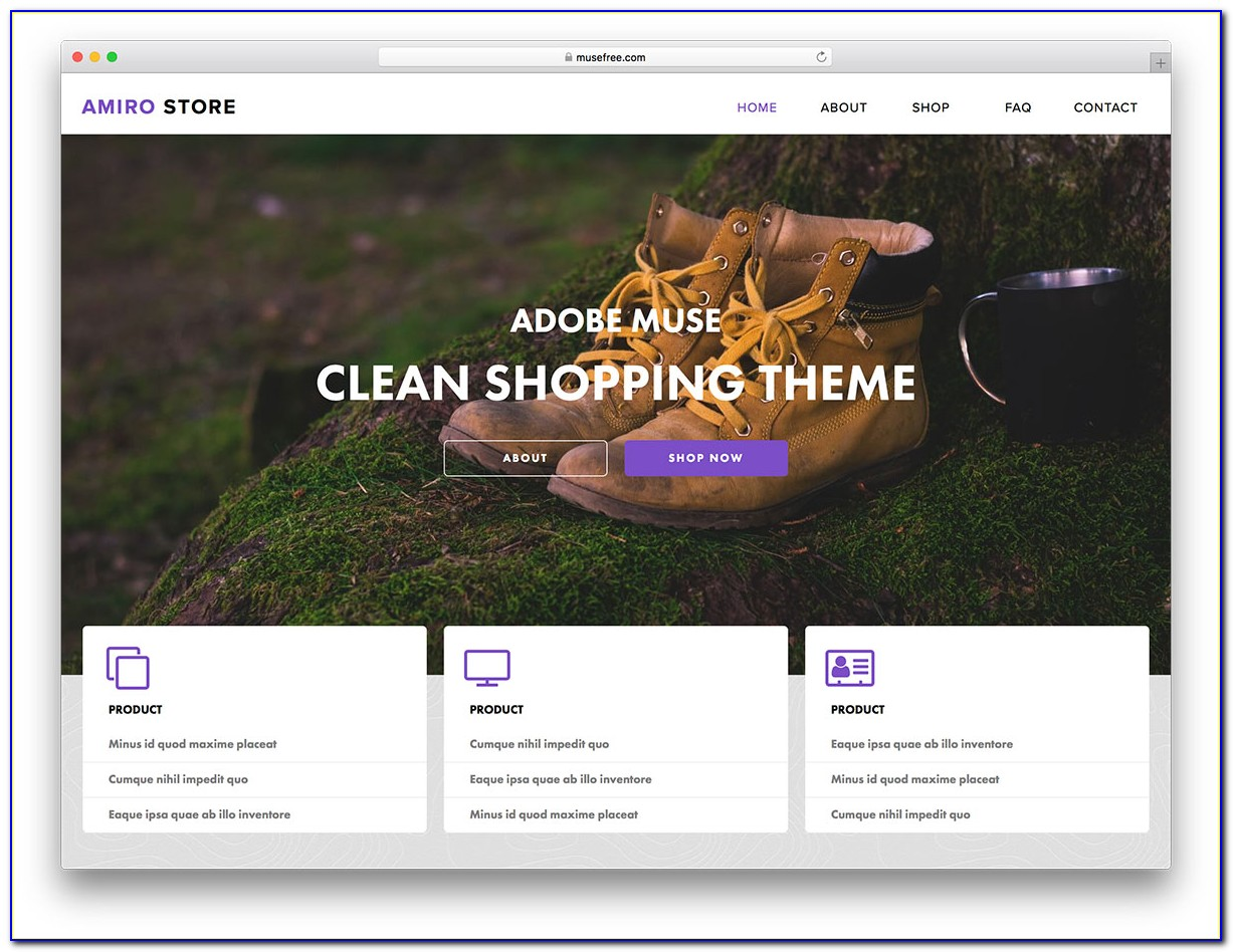 Adobe Muse Responsive Themes