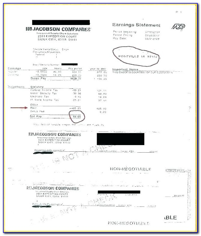 Adp Pay Statement Template