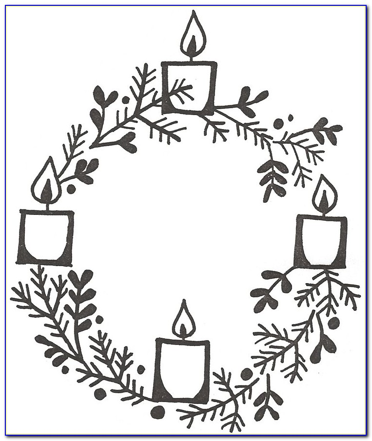 Advent Wreath Printable Coloring Pages