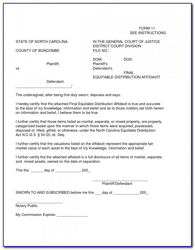 Affidavit Example South Africa