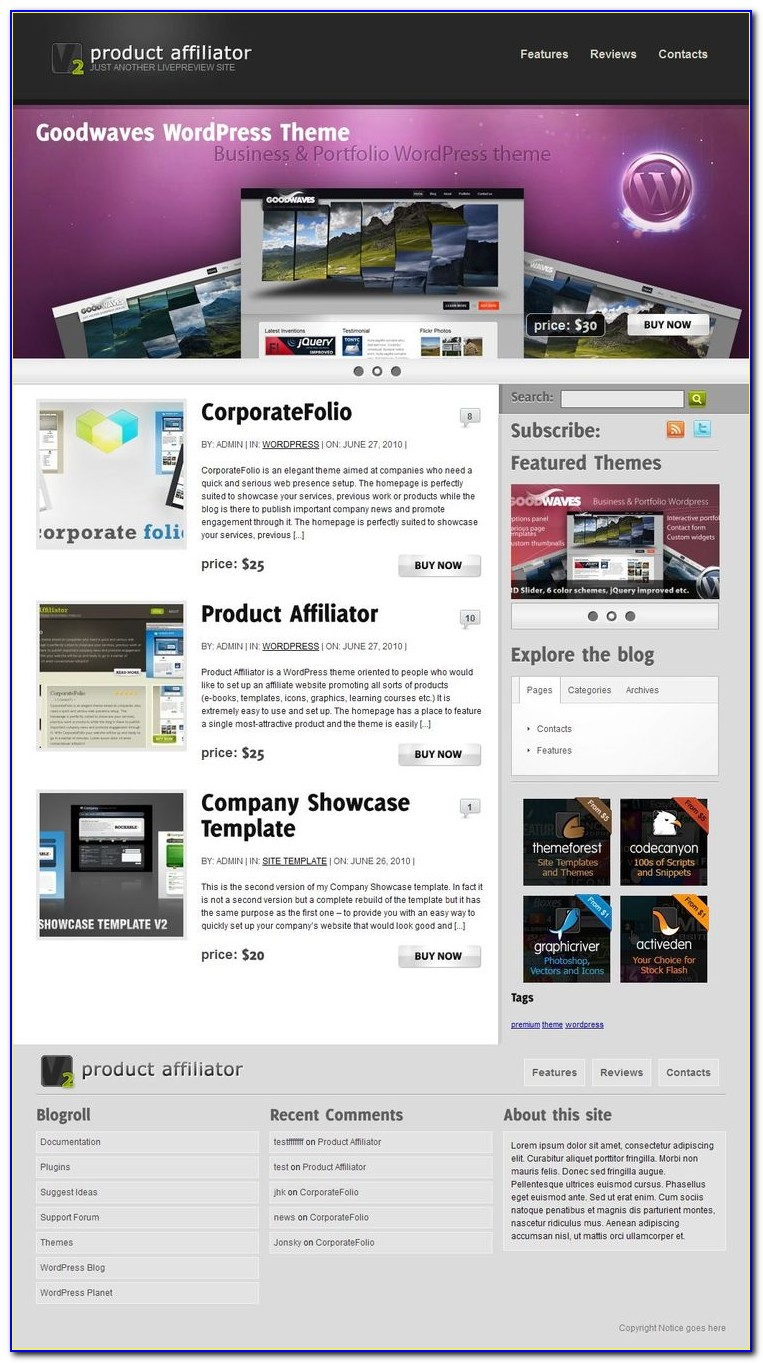 Affiliate Marketing Website Template