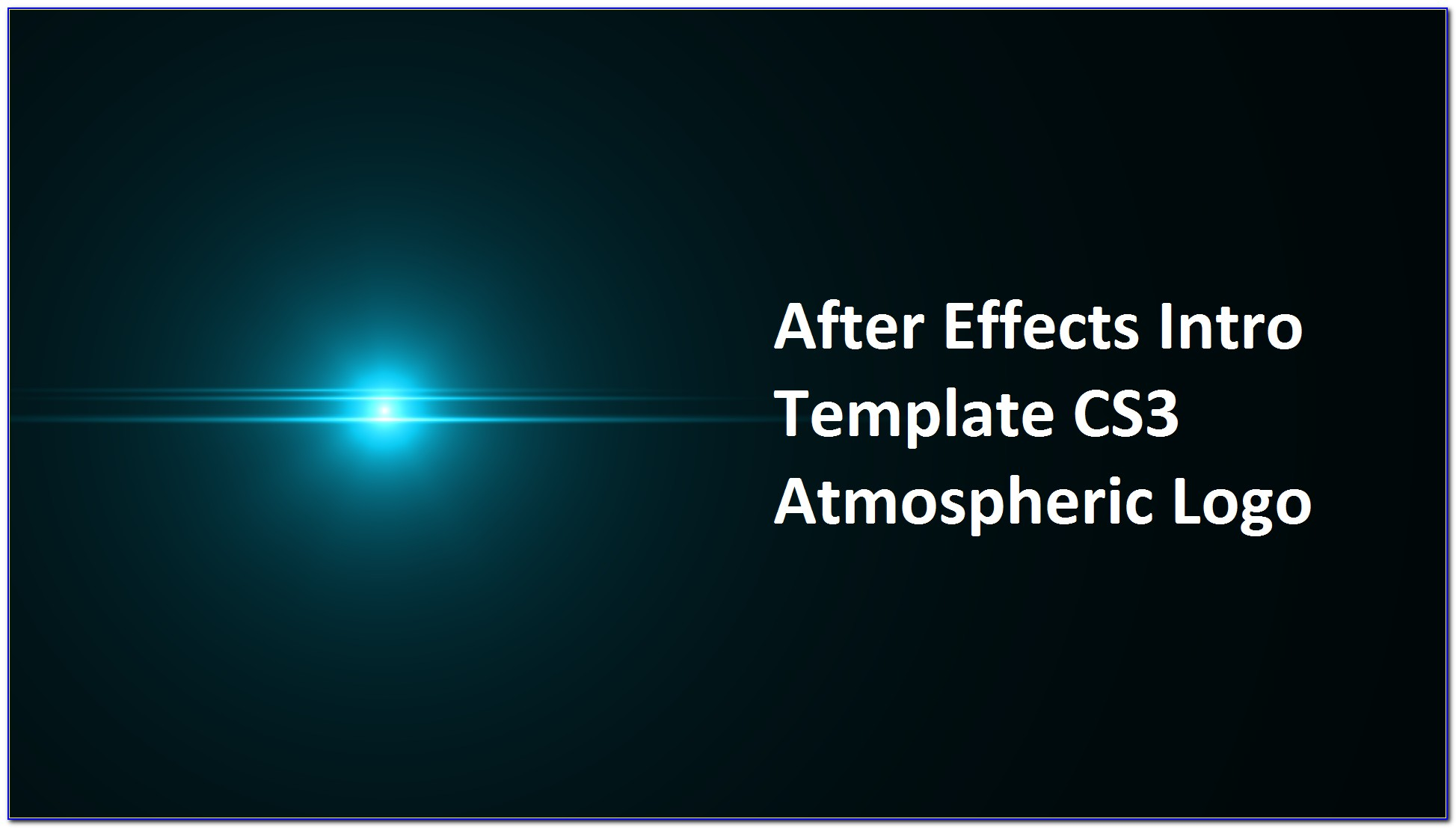After Effects Templates Intro Logo