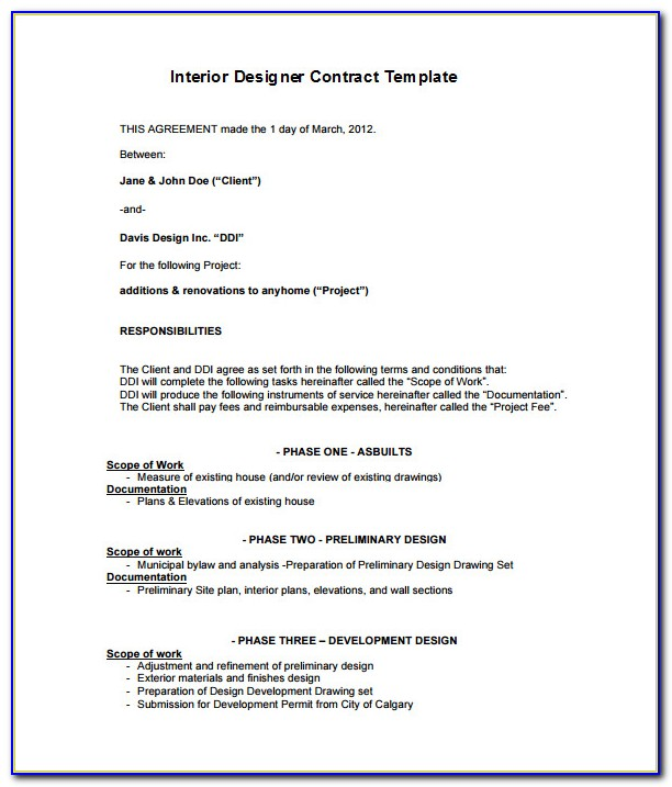 Aia Architect Contract Template