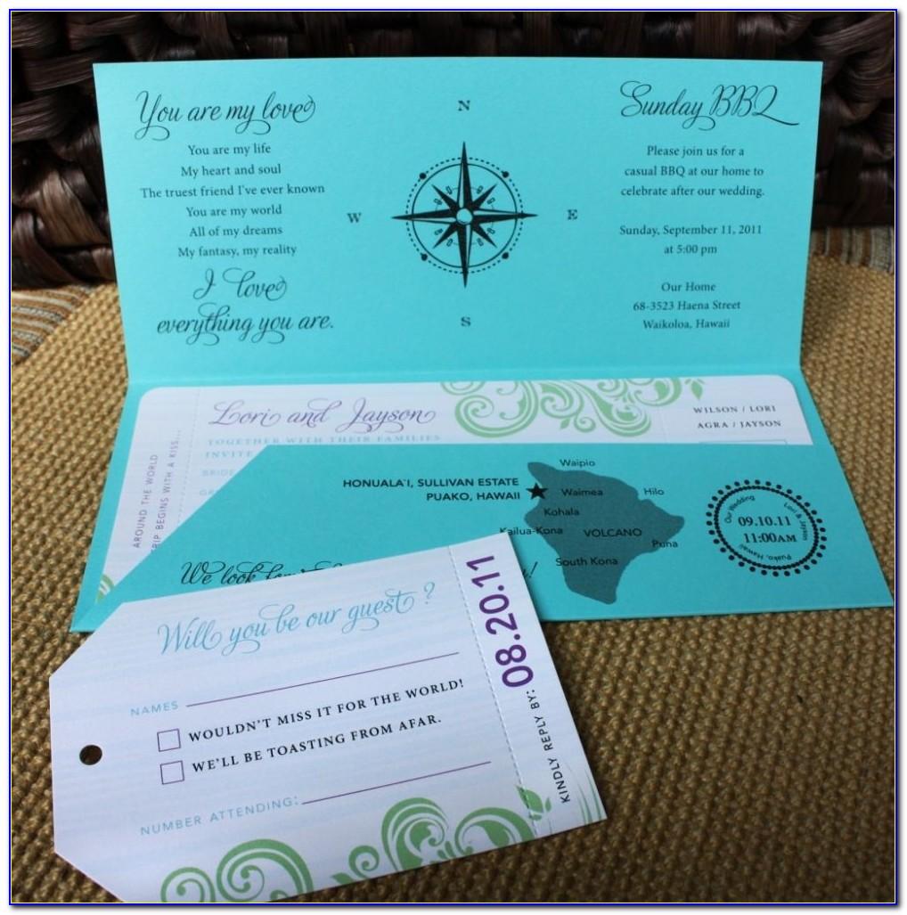 Airline Ticket Wedding Invitation Template Free