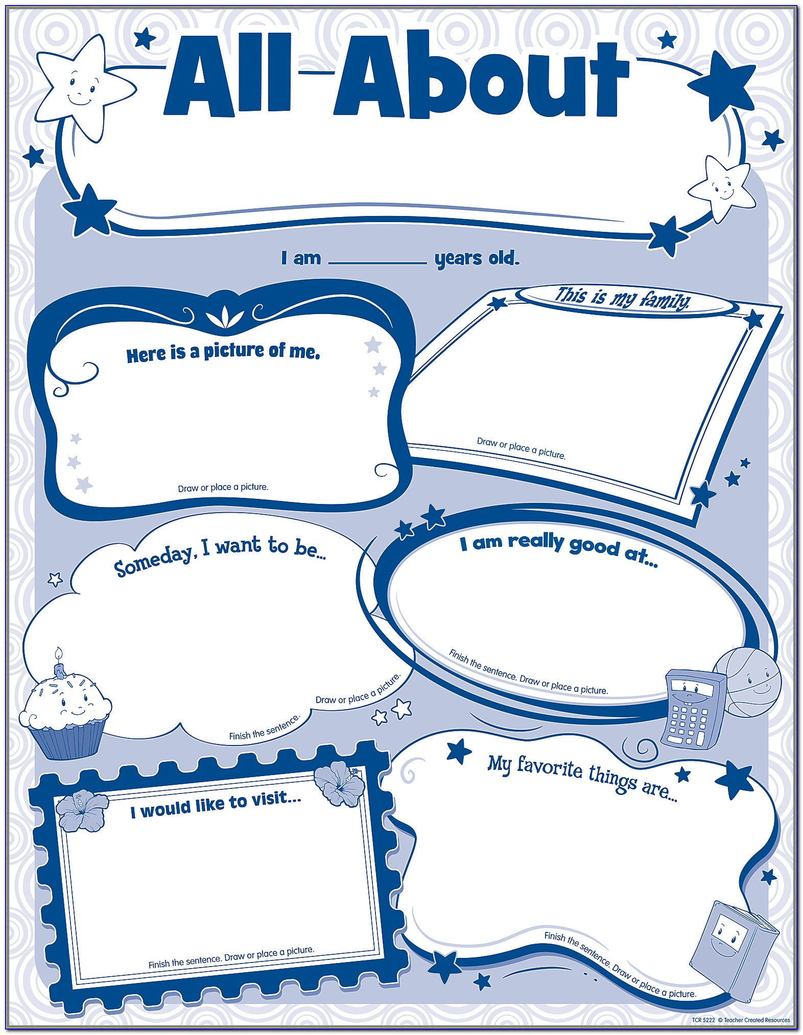 All About Me Poster Template 3rd Grade