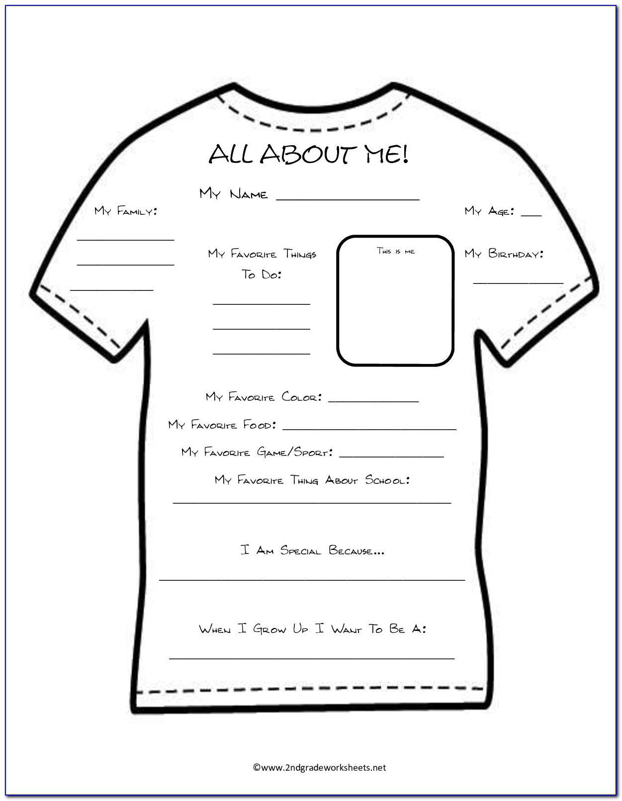 All About Me Poster Template Free