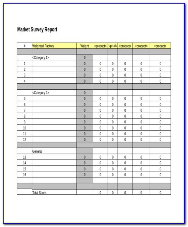 Apartment Market Analysis Template