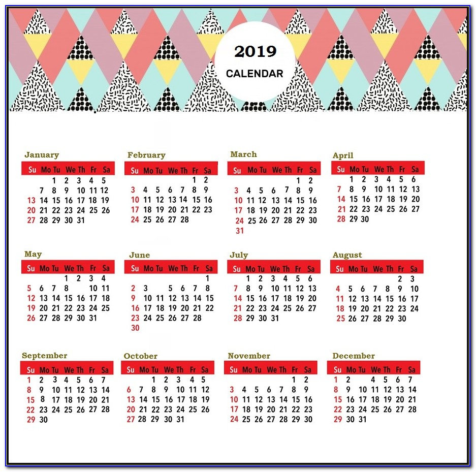 Apple Picture Calendar Template