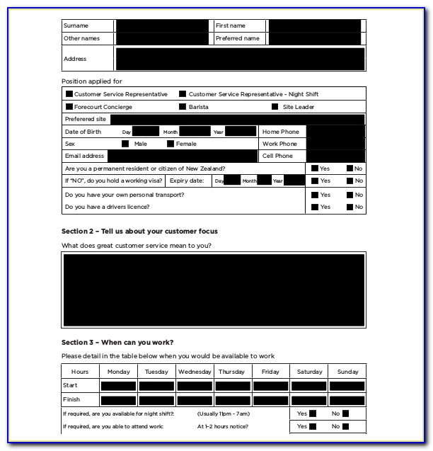 Application Form Template Free Download