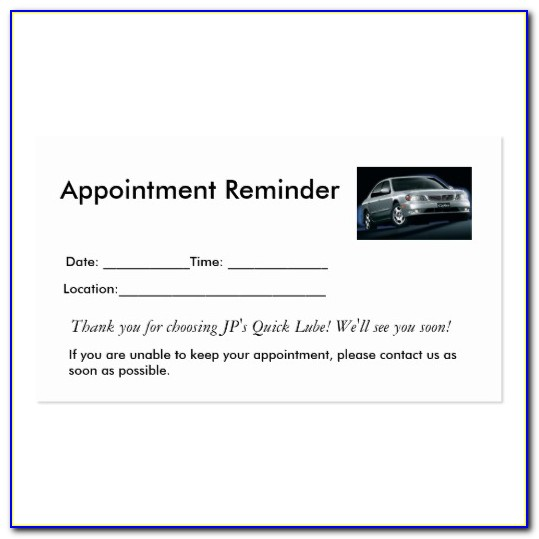 Appointment Reminder Letter Template Free