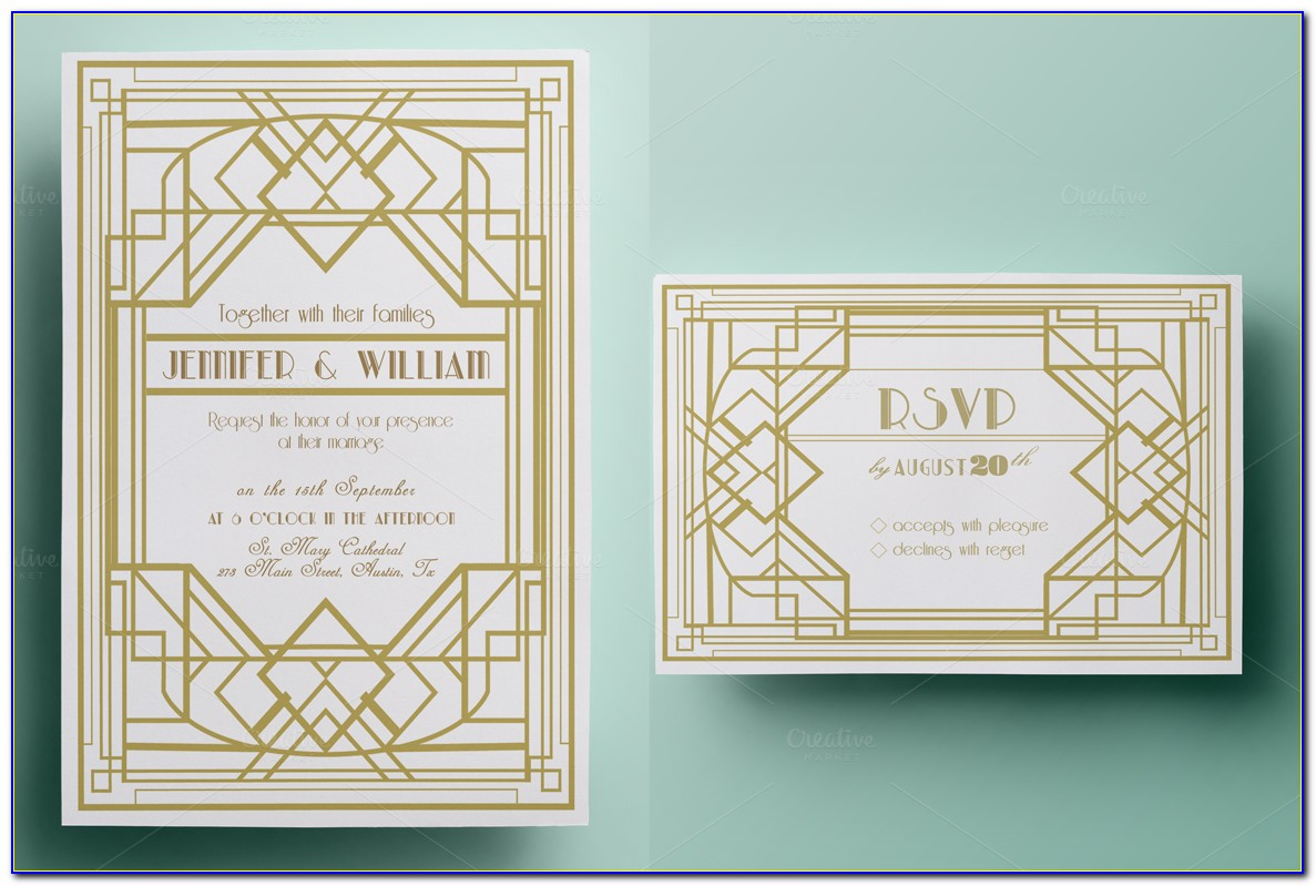 Art Deco Invitation Templates Download Free