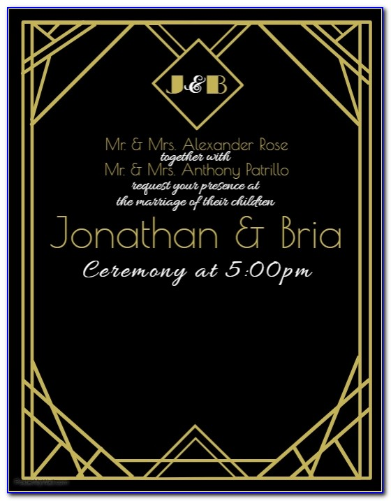 Art Deco Party Invitation Templates Free