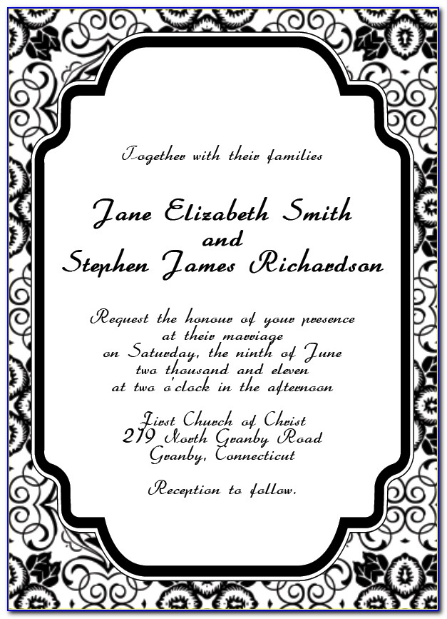 Art Deco Wedding Invitation Template Free