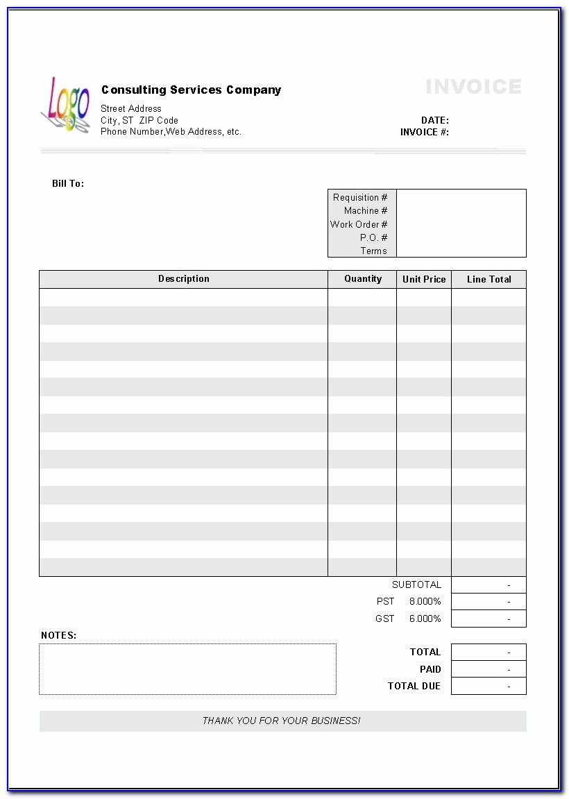 Free Word Invoice Template Australia Design Invoice Template Sample Invoice Template Australia