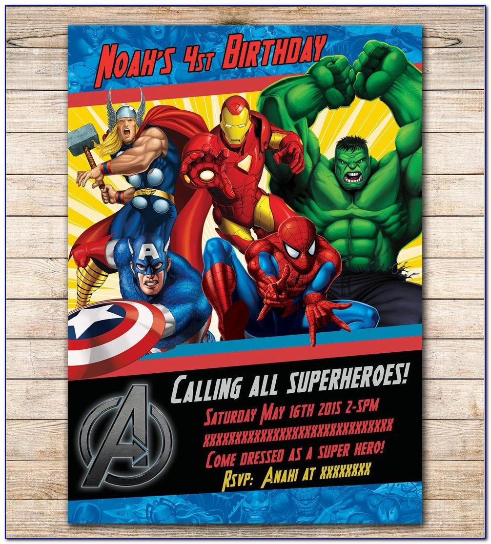 Avengers Birthday Invitation Maker Free