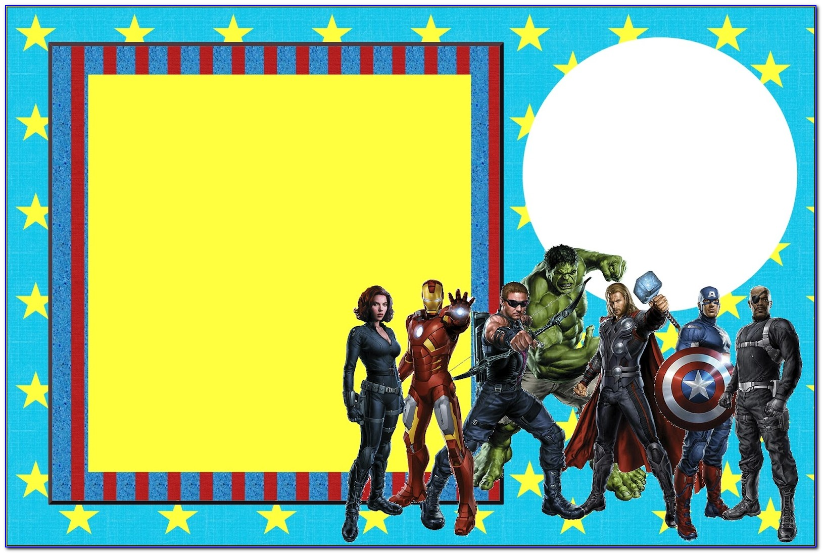 Avengers Birthday Invitation Templates Free