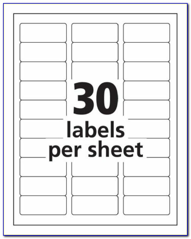 Avery 30 Labels Per Sheet Template 5160