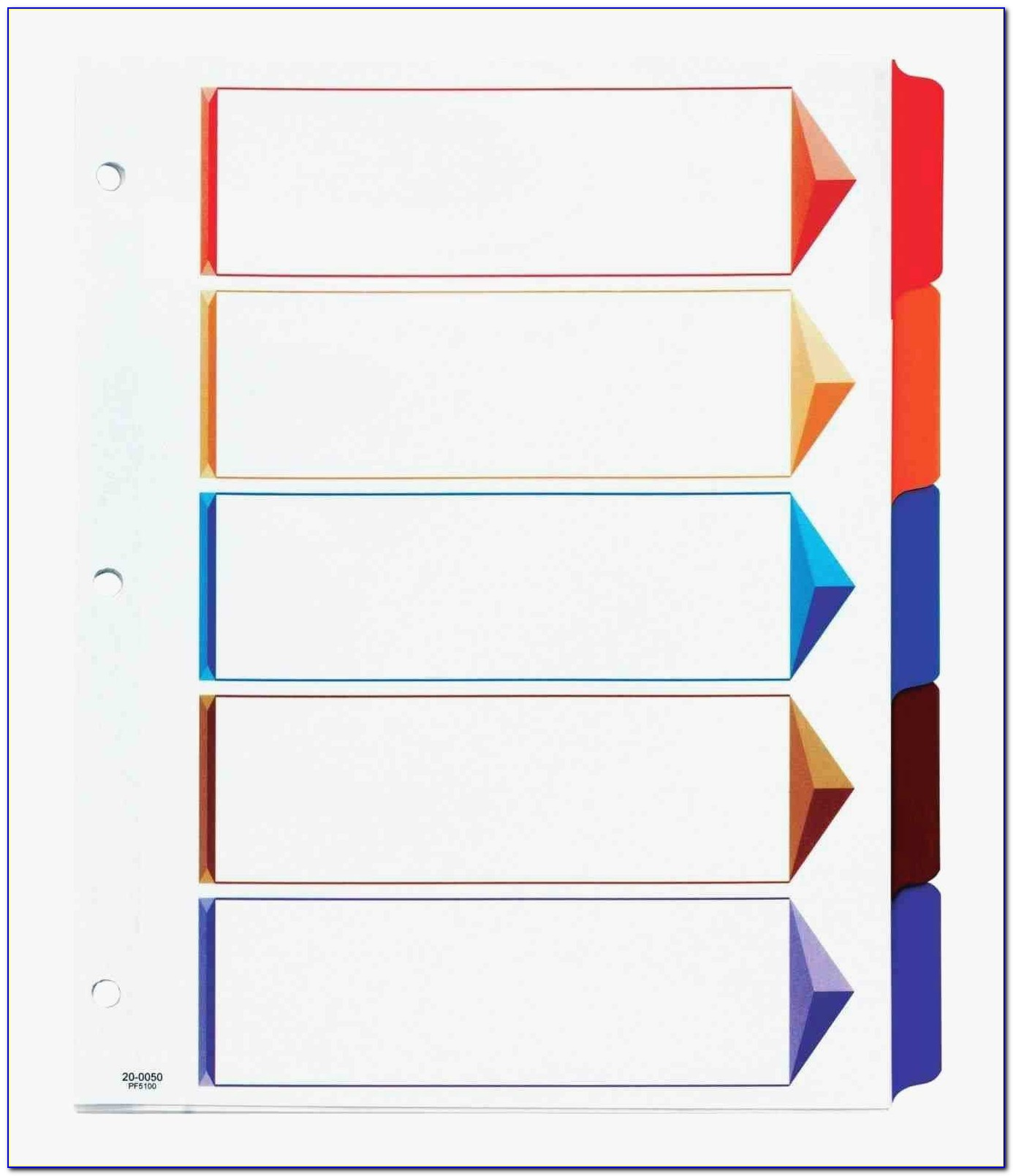 Divider Tabs Template Lovely 12 Unique Avery Big Tab Inserts For Dividers 8 Tab Template Resume