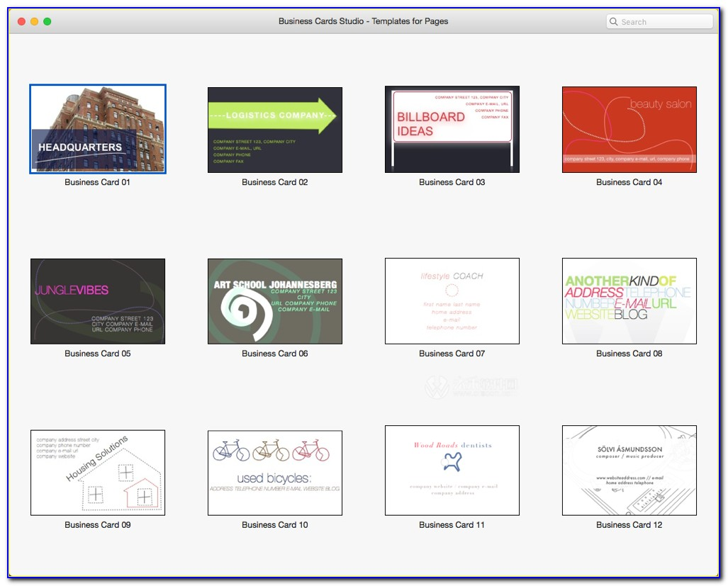 Avery Business Card Templates For Mac