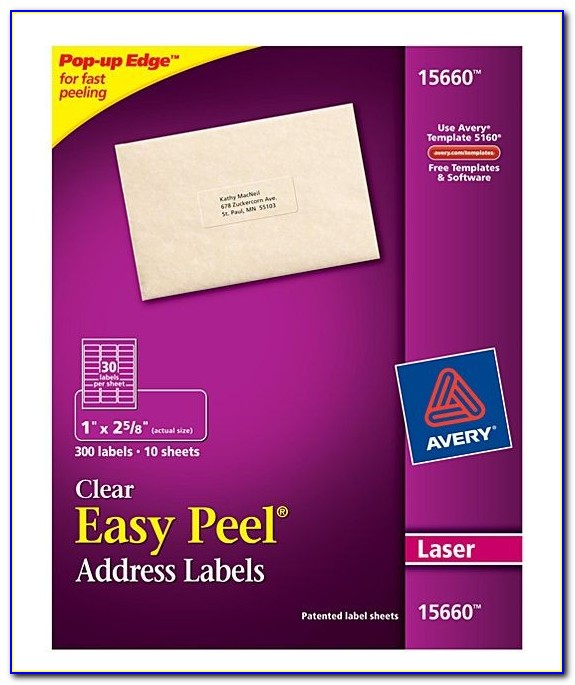 Avery Clear Labels Template 15660